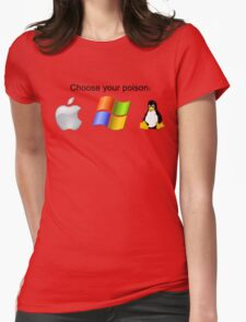 """Choose your poison"" - Bright Womens Fitted T-Shirt"