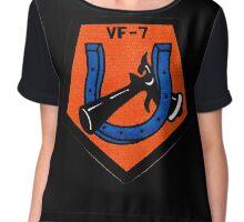 VFA-7 Horseshoes Patch Chiffon Top