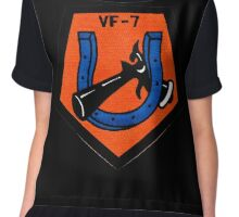 VFA-7 Horseshoes Patch Chiffon Top