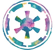 Watercolor Galactic Empire (white) Photographic Print