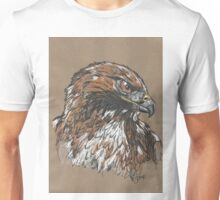 Red Tailed Hawk - The Hurried Hawk Unisex T-Shirt
