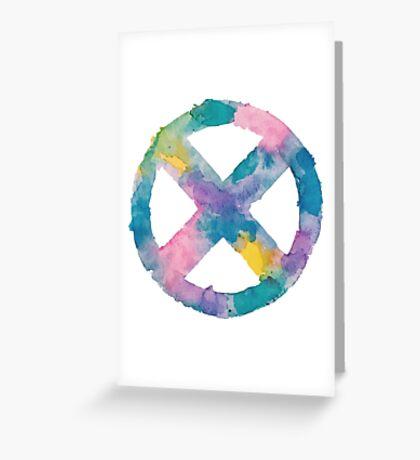 Watercolor X-Men (white)  Greeting Card