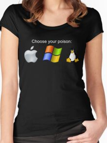 """Choose your poison"" - Dark Women's Fitted Scoop T-Shirt"