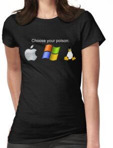 """""""Choose your poison"""" - Dark Womens Fitted T-Shirt"""