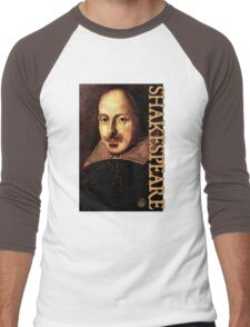 William Shakespeare Portrait Men's Baseball ¾ T-Shirt