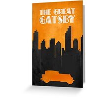The Great Gatsby - Minimal Movie Poster. Greeting Card