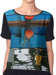 New Bedford Waterfront XIX Color Chiffon Top