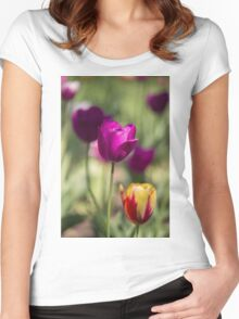 Study of Tulips Women's Fitted Scoop T-Shirt