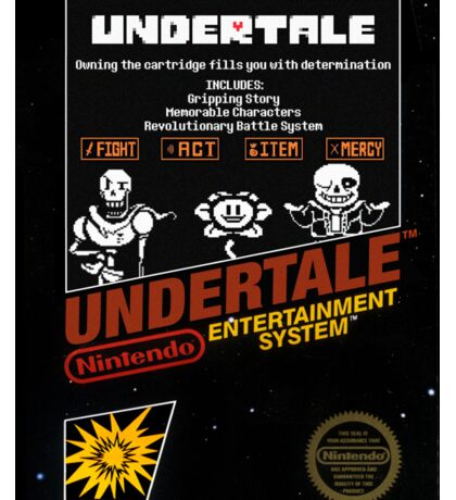 Undertale NES Box Art Sticker