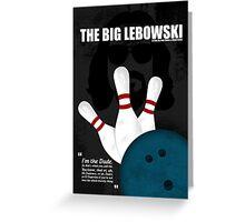 The Big Lebowski - Minimal Movie Poster Greeting Card
