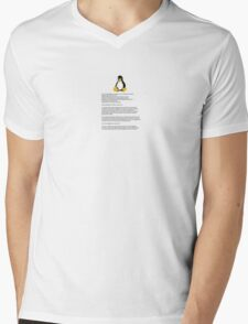 Linux is here. Mens V-Neck T-Shirt