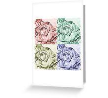 Rose Square  Greeting Card