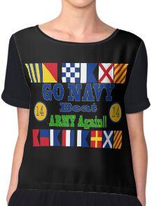 Go Navy Beat Army Again Chiffon Top
