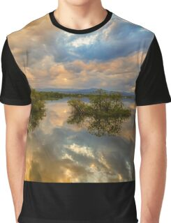 Stormy Sunset Reflections Graphic T-Shirt