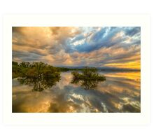 Stormy Sunset Reflections Art Print