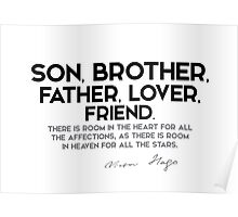 son, brother, father, lover, friend - victor hugo Poster