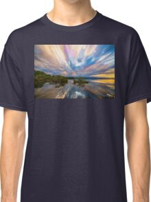 Sunset  Lake Reflections Timed Stack Classic T-Shirt