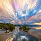 Sunset  Lake Reflections Timed Stack by Bo Insogna