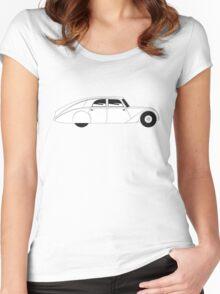 Sedan - vintage model of car Women's Fitted Scoop T-Shirt