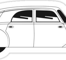 Sedan - vintage model of car Sticker