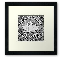 Lotus Pen and Ink Zentangle  Framed Print