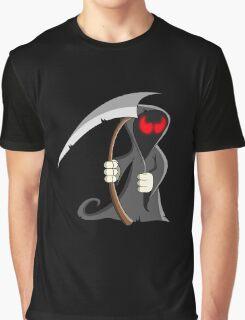 The Grim Reaper Zombie Cartoon Graphic T-Shirt