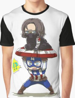 Bucky and Cap Graphic T-Shirt