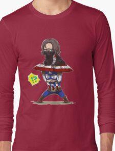 Bucky and Cap Long Sleeve T-Shirt