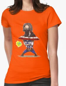 Bucky and Cap Womens Fitted T-Shirt