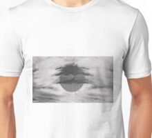 Abstract Black and Whilte Sky Unisex T-Shirt