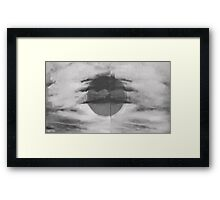 Abstract Black and Whilte Sky Framed Print