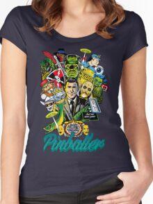 Pinballer Women's Fitted Scoop T-Shirt