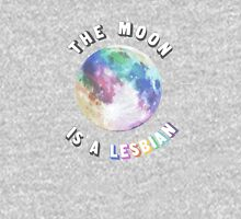 The Moon is a Lesbian Womens Fitted T-Shirt