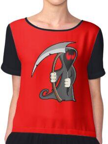 The Grim Reaper Zombie Cartoon Chiffon Top
