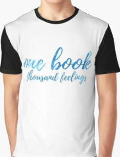One Book Thousand Feelings (Blue) Graphic T-Shirt