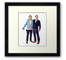 Chris Evans and Sebastian Stan Framed Print