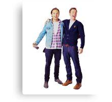 Chris Evans and Sebastian Stan Canvas Print