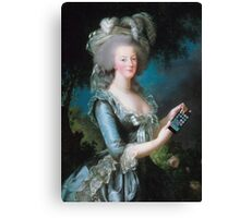Marie Antoinette: call me on my new phone! Canvas Print