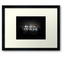 BLACK MONEY  Framed Print