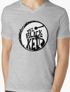 The Black Key Mens V-Neck T-Shirt