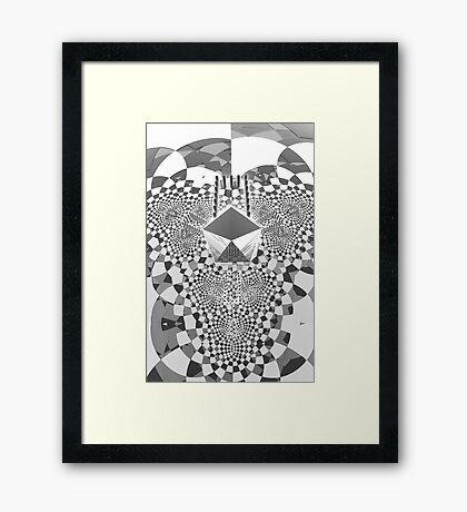 Trifold - Black and white [iphone / ipad case / mug / laptop sleeve / shirt] Framed Print