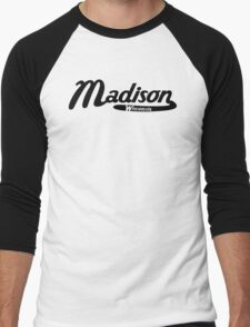 Madison Wisconsin Vintage Logo Men's Baseball ¾ T-Shirt