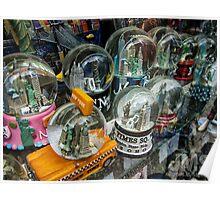 NY Sno-globes in a Souvenir Shop Poster