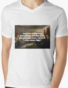 Declaration of Independence Jefferson's Wise Words Mens V-Neck T-Shirt