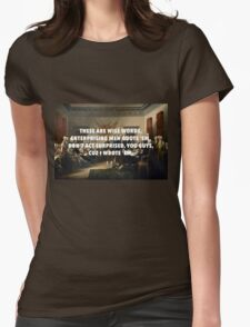 Declaration of Independence Jefferson's Wise Words Womens Fitted T-Shirt