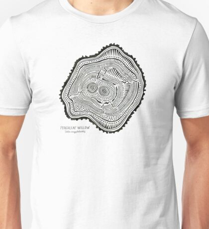 Peachleaf Willow – Black Ink Unisex T-Shirt
