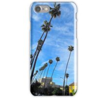 Palm Tree-Lined Street, Santa Monica iPhone Case/Skin