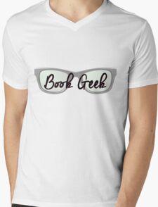 Book Geek Mens V-Neck T-Shirt