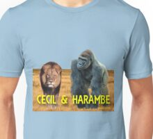 Harambe and Cecil Together Unisex T-Shirt