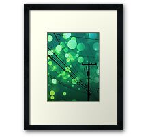 Power Lines graphic design Framed Print